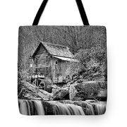 Glade Creek In Black And White Tote Bag