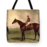 Gladiateur With Harry Grimshaw Up And His Owner Count Frederic De Lagrange Tote Bag by Harry Hall
