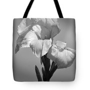 Gladiola In Black And White Tote Bag