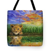 Glancing In The Water Tote Bag