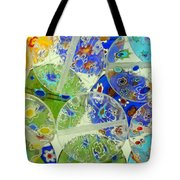Glass Beads Abstract Tote Bag