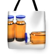 Glass Bottles With Medicine  Tote Bag