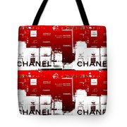 Glass Case Red Pop Four Tote Bag