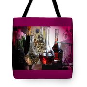Glass Decanters And Glasses Tote Bag