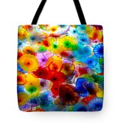 Glass Flowers Tote Bag