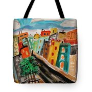 Glass Front Office Building Tote Bag
