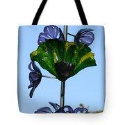 Glass Hollyhocks Tote Bag