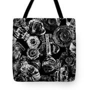 Glass Knobs - Bw Tote Bag