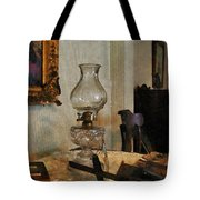 Glass Lamp And Stereopticon Tote Bag