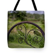 Glass Leaves Tote Bag