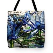 Glass Lilies Tote Bag