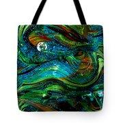 Glass Macro Abstract 13e7 Tote Bag