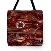 Glass Macro Abstract Crimson And Gray Tote Bag