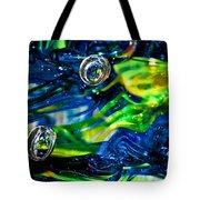 Glass Macro - Seahawks Blue And Green -13e4 Tote Bag
