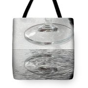 Glass Of Wine Painterly Mirrored Tote Bag