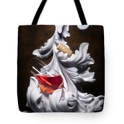 Glass Of Wine With Cork Still Life Tote Bag