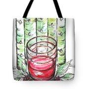 Glass Rosy Wine Tote Bag