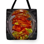 Glass Sculpture - Fire - 13r1 Tote Bag