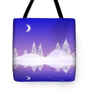 Glass Winter Tote Bag
