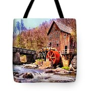 Glen Creek Grist Mill Painting Tote Bag