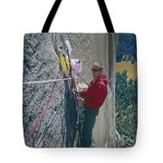 T-306607-glen Denny With Me On El Cap First Ascent 1962 Tote Bag
