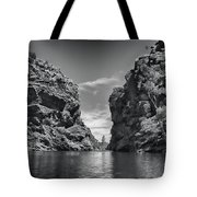 Glen Helen Gorge-outback Central Australia Black And White Tote Bag