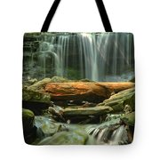 Glen Leigh River Rocks And Falls Tote Bag