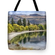 Glendhu Bay Lake Wanaka With Autumnal Trees Tote Bag