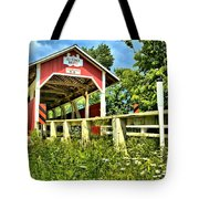 Glessner Wooden Bridge Tote Bag