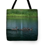 Gliding Across The Water Tote Bag