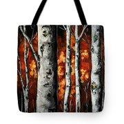Glimpse Of Red Tote Bag by Vickie Warner