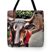 Glitter Bull Tote Bag by Emily Kay