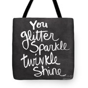 Glitter Sparkle Twinkle Tote Bag by Linda Woods