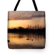 Gloaming - Subtle Pink Lavender And Orange At The Lake Tote Bag