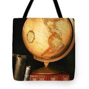 Globe And Books Tote Bag