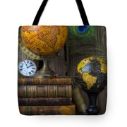 Globes And Old Books Tote Bag