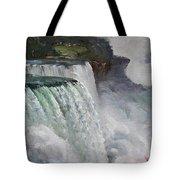 Gloomy Day At Niagara Falls Tote Bag