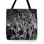 Gloomy Icy Tree Tote Bag