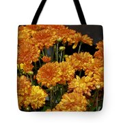 Glorious Golden Mums Tote Bag