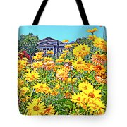 Glorious Yellow And The Franklin Tote Bag