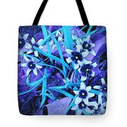Glory Of The Snow - Violet And Turquoise Tote Bag