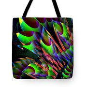 Glow In The Dark Abstract Tote Bag