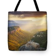 Glow Of The Gods Tote Bag by Peter Coskun