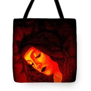 Glowing Botticelli Madonna Tote Bag