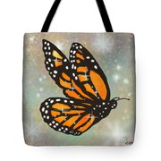 Glowing Butterfly Tote Bag