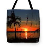 Glowing Cross In The Sunset Tote Bag