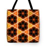Glowing Floral Pattern Tote Bag
