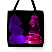 Glowing Glass Knights Tote Bag