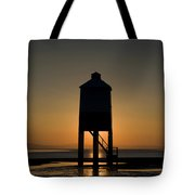Glowing Lighthouse Tote Bag by Anne Gilbert