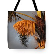 Glowing Palm Blossoms Tote Bag